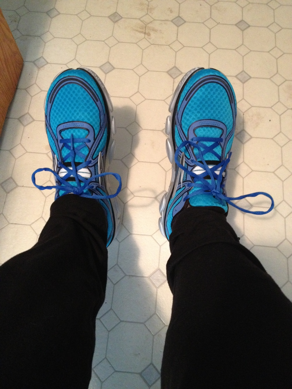 My new Brooks PureFlows!  Loving the blue!