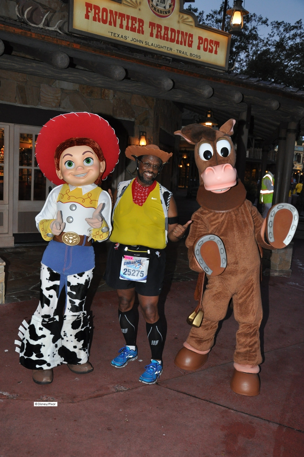 Got a great character photo op with Jessie and Bullseye as I was running through the Magic Kingdom during the Disney Half Marathon on Saturday morning.