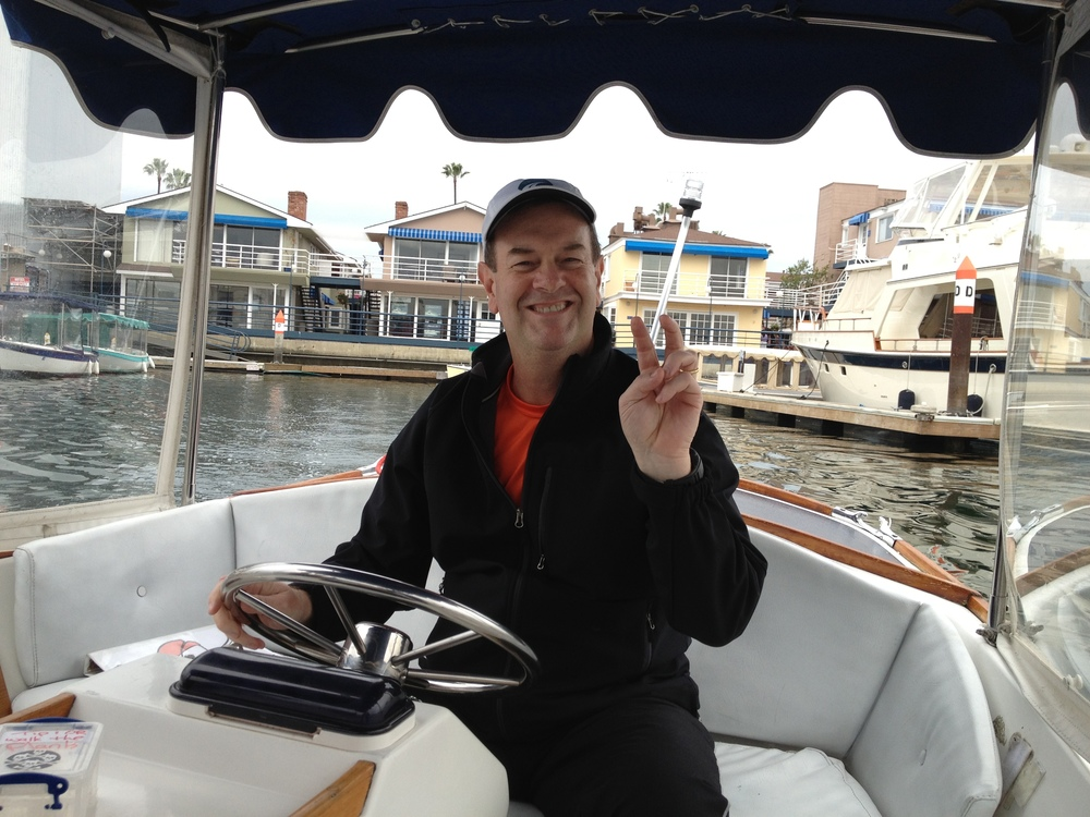 It's Captain Joe leading a tour of Newport Harbor