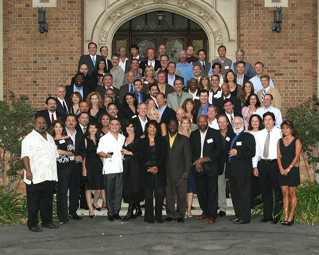 The Class of 1978's 30th High School Reunion Group Photo (courtesy of the Loyola Alumni Office)