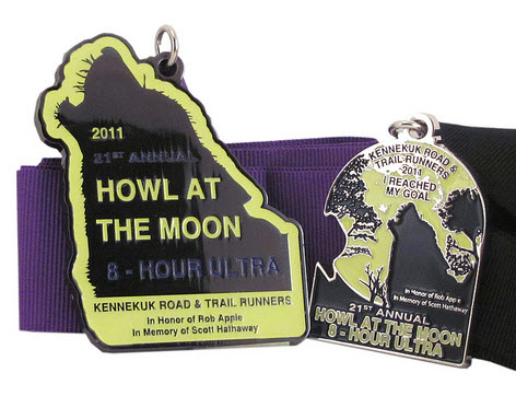 The Medals from the 2011 Howl Ultra.  Pretty cool looking!