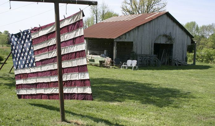 Alabama Chanin flag quilt