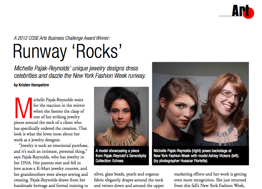 "Runway ""Rocks"" COSE Update Magazine"