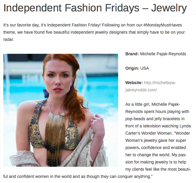 Independent Fashion Fridays-Jewelry