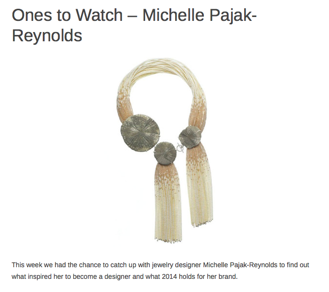 Ones to Watch-Michelle Pajak-Reynolds