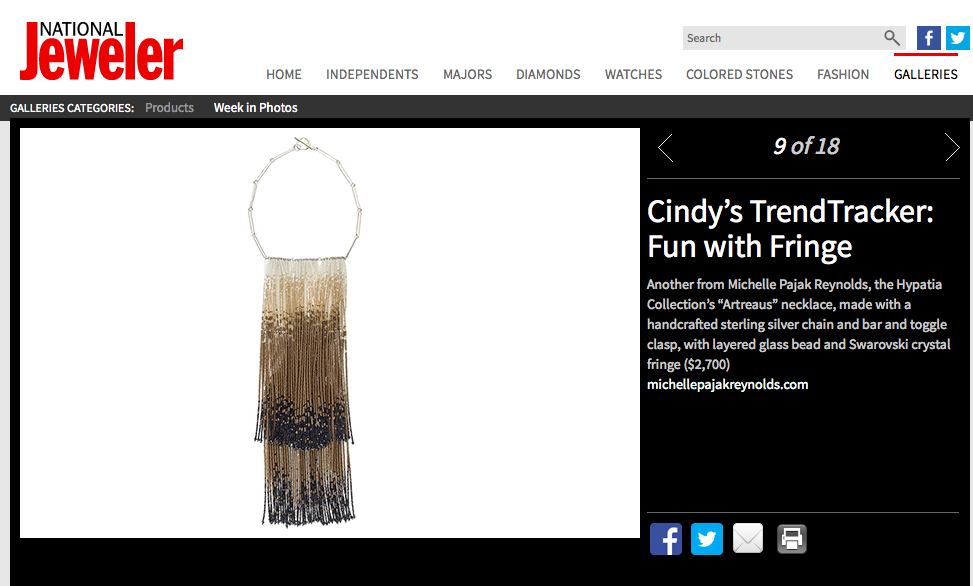 "National Jeweler: TrendTracker ""Fun with Fringe"""