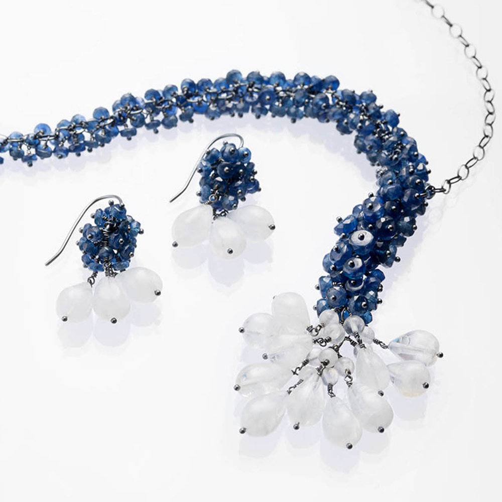 Michelle Pajak-Reynolds Undina Collection Edlynn necklace and earrings