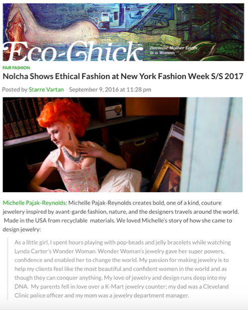 Eco-Chick: Fair Fashion-Nolcha Shows Ethical Fashion at New York Fashion Week S/S 2017