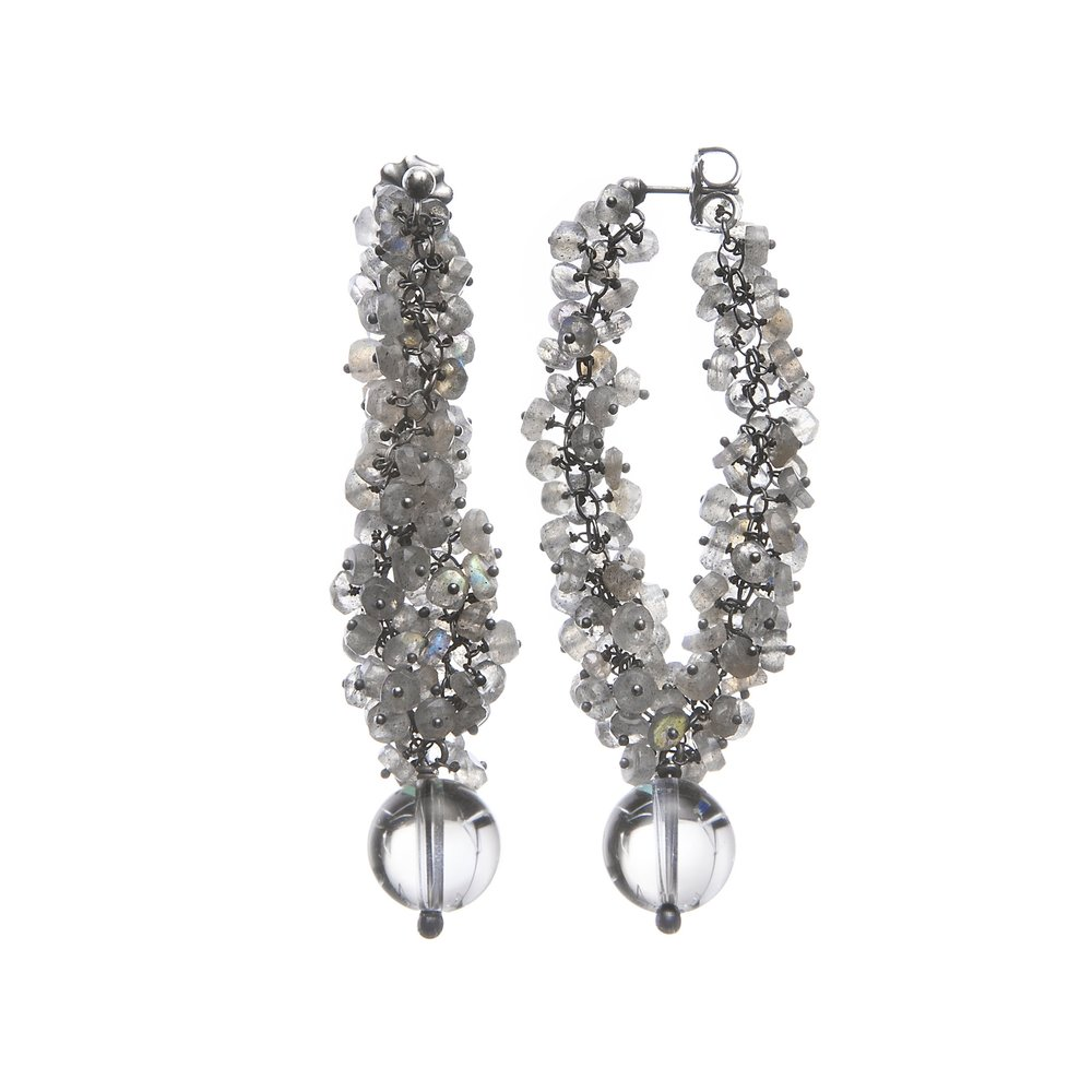 Undina Collection: Luna dangle earrings