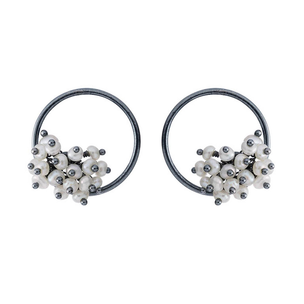 Adva small pearl hoop earrings
