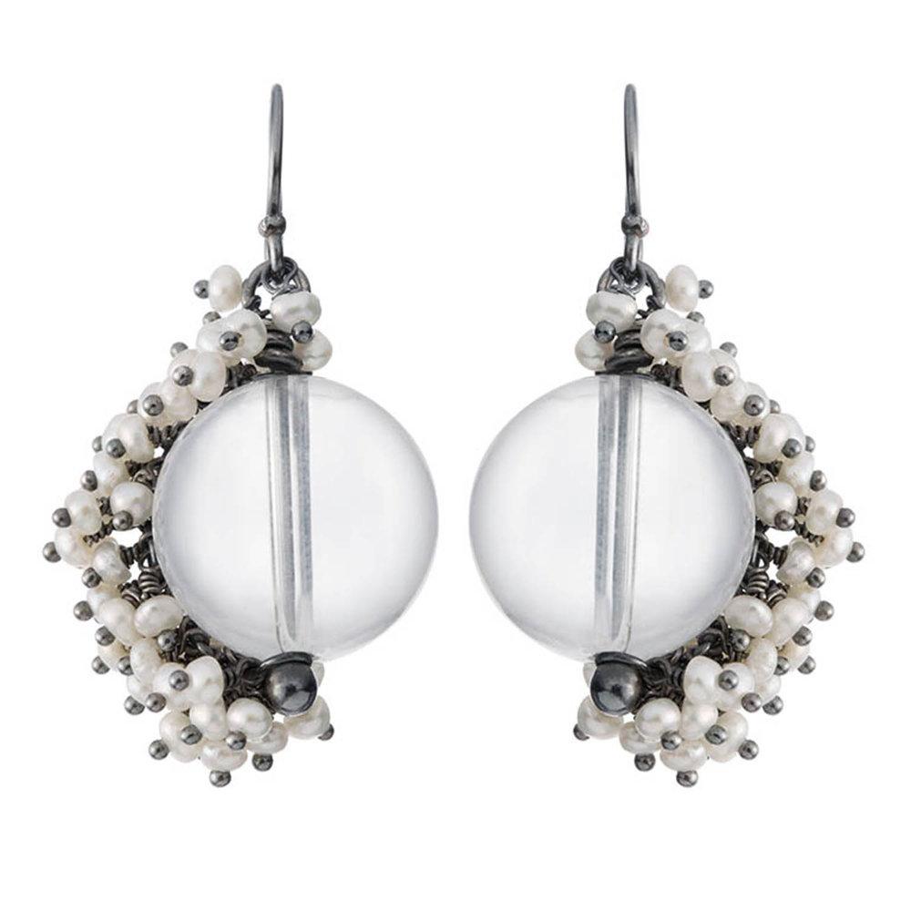 Venus large drop earrings
