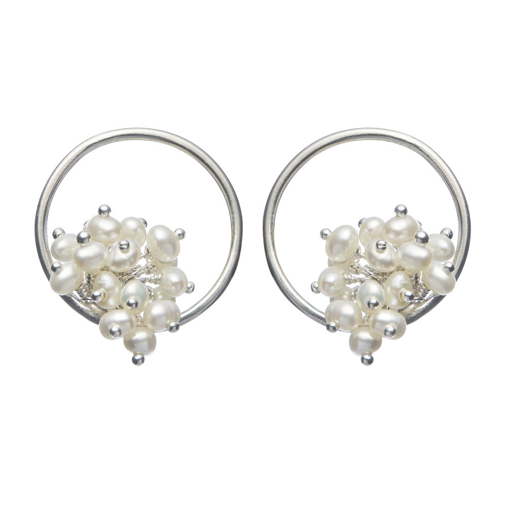 Adva small pearl hoop earrings
