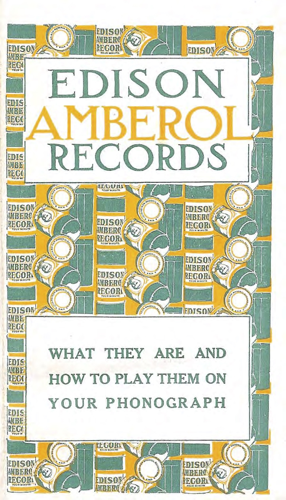 edison amberol records brochure