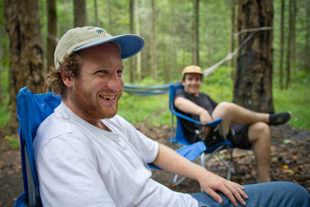 Gabe Sirenko-Siryj and Will Gaskins in Pisgah National Forest.
