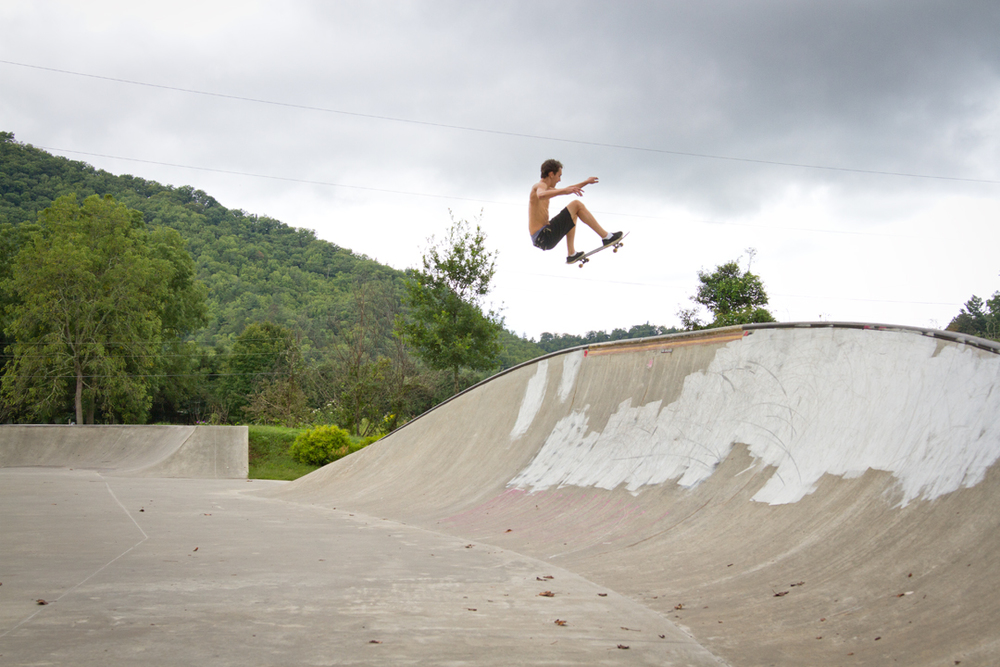 Will Smith - Frontside ollie in Cherokee, NC.