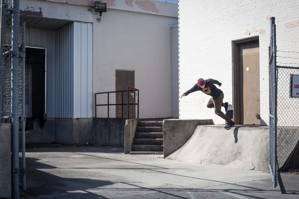 Wells and I went out to shoot some catalog stuff for  Satori Wheels .  We stopped by Coke Bank for a quick back noseblunt.