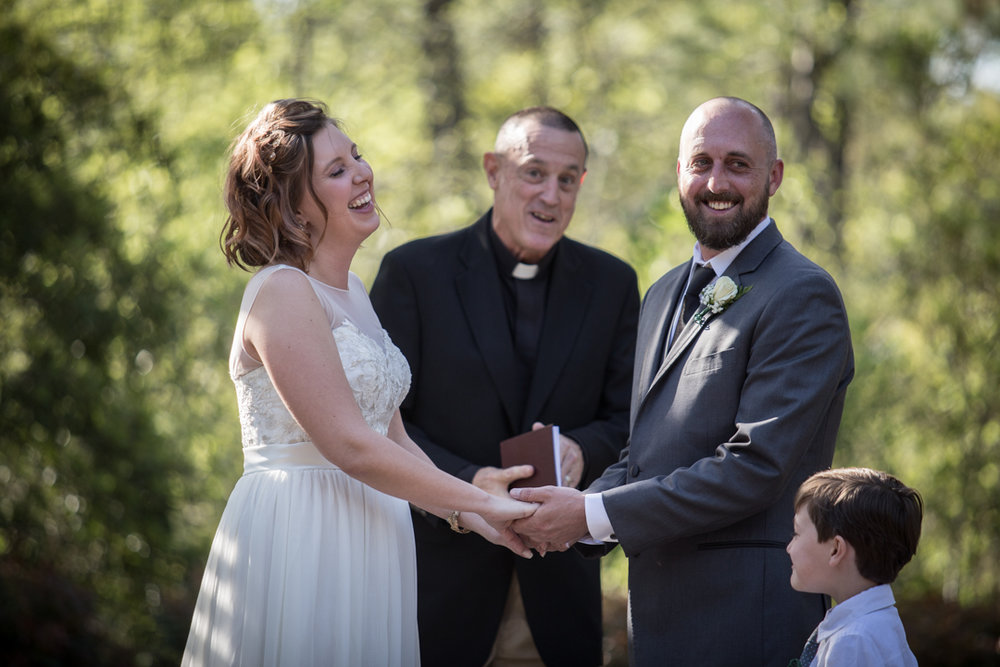 The officiant had quite a few jokes.