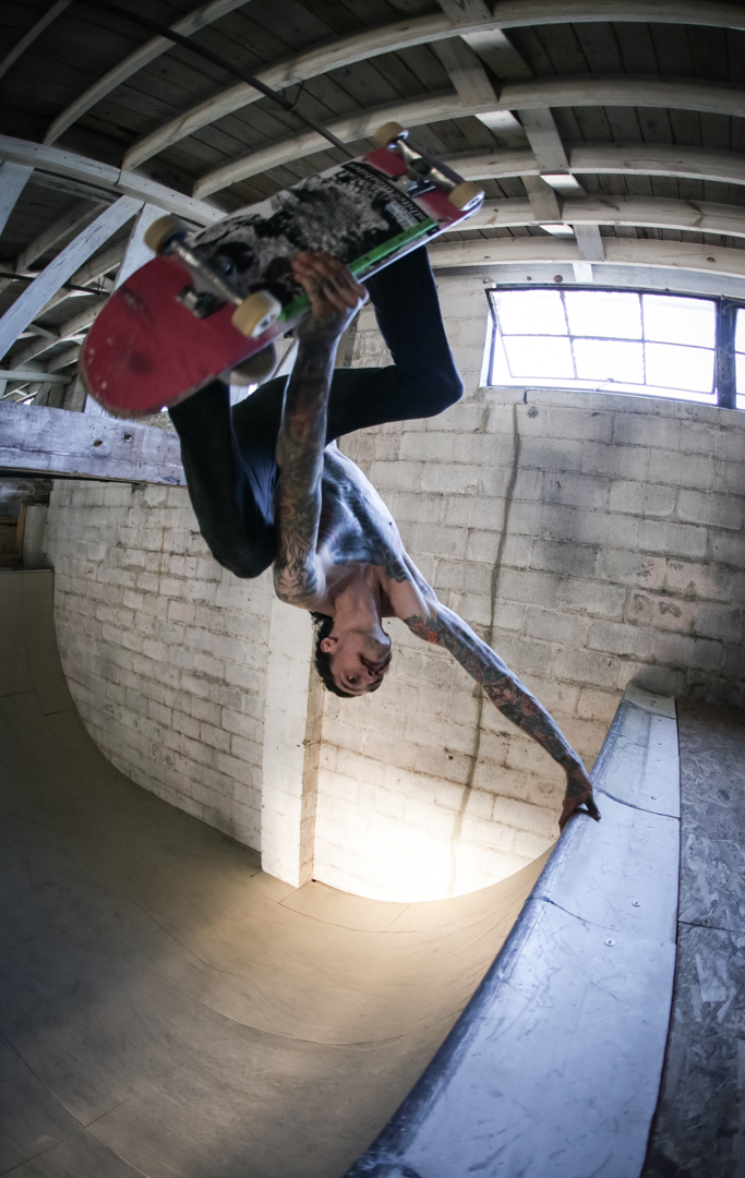 "Nick also wanted to stand upside-down and he decided to start ripping extra hard for his  video part  and ""bro spotlight"" in  SkateBoner Issue #6 ."