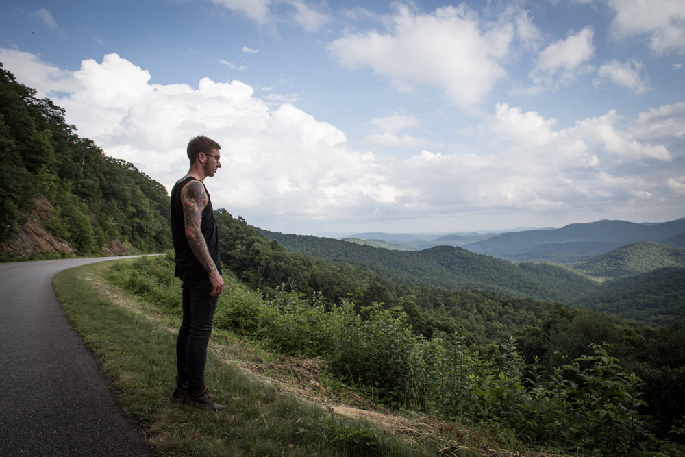 Like I said, I moved up to Asheville and it was so nice.  Summer time in the mountains is unbeatable.  This is my brother.