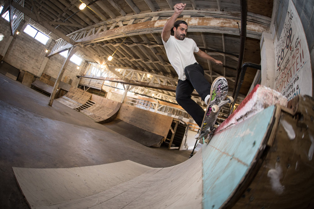We skated the Space.  Timmy did a pivot fakie for the love.