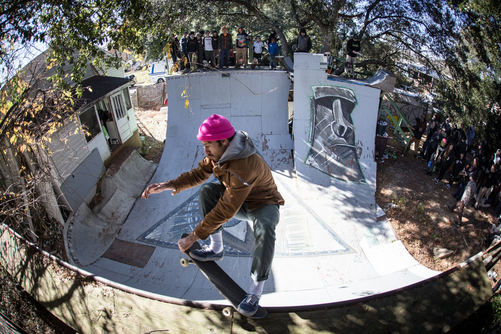 "The man known sometimes as ""Striker"" does a crail grab 5-0 and does it well."