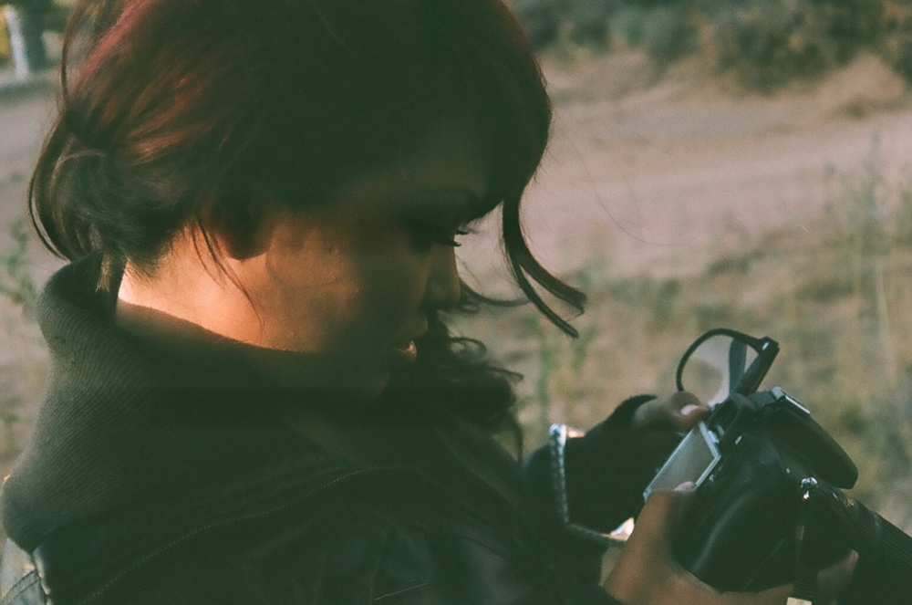 Photo of Alicia D. Taken in Window Rock AZ. One of my first film shots.