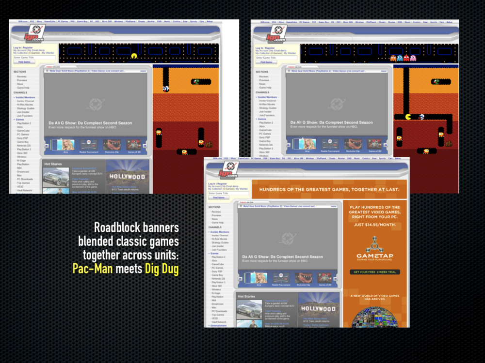 Roadblock banner ads