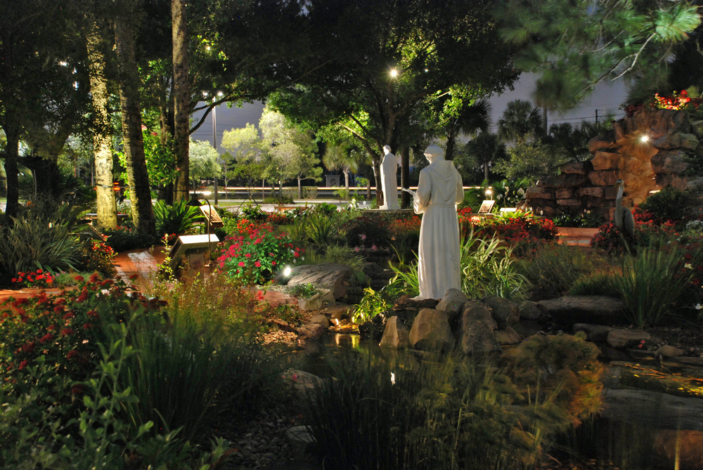 Meditation Garden at St. Peter Catholic Church Jupiter  Night Shot.jpg