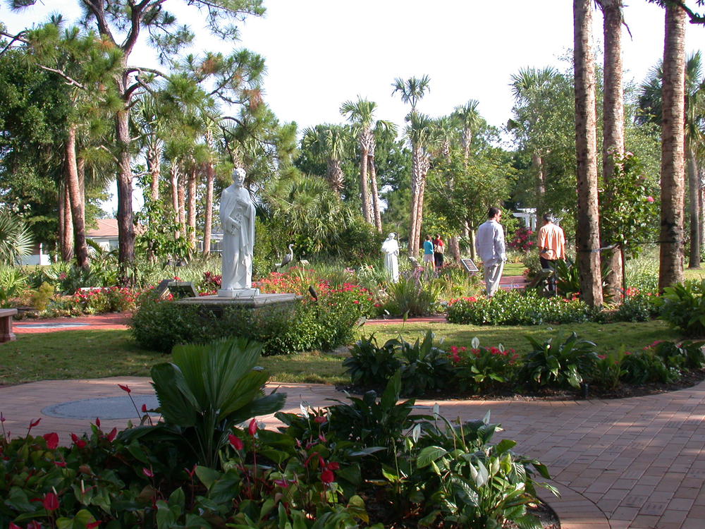 Meditation Garden at St. Peter Catholic Church Jupiter Entry to Grotto Tropical & Native Plantings.jpg