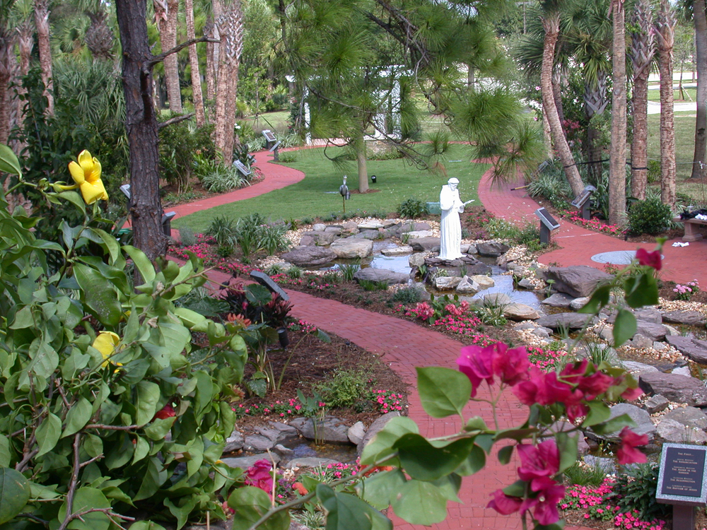 Meditation Garden at St. Peter Catholic Church Jupiter Garden Aerial view.jpg