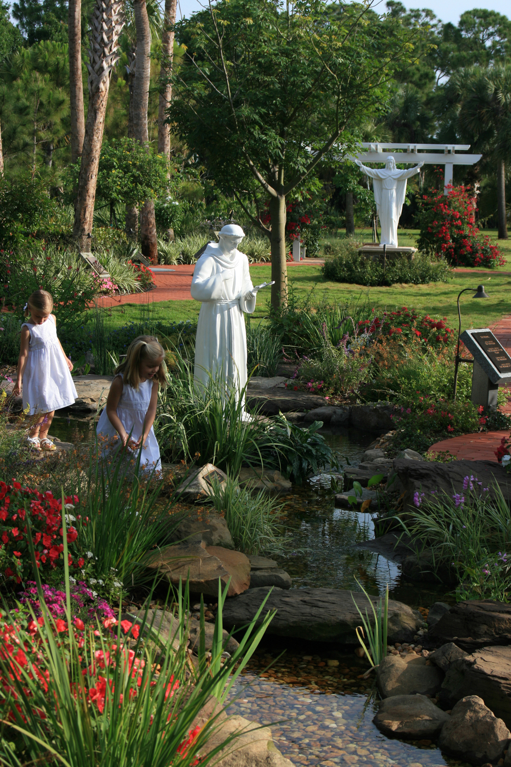 Meditation Garden at St. Peter Catholic Church Jupiter Stream and Koi Pond.jpg