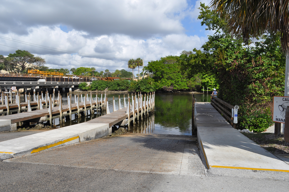 Burt Reynolds Park Palm Beach County Florida Boat Ramp and Fishing Pier.JPG