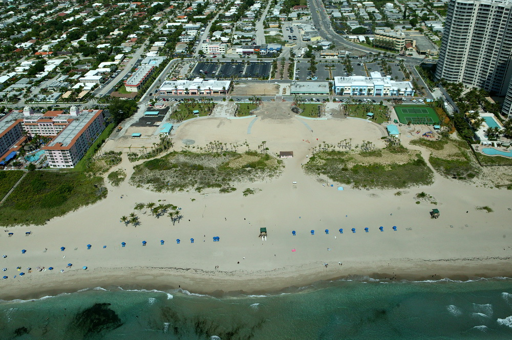 City of Riviera Beach Municipal Beach Park Ocean Mall Aerial During Construction Tennis Court Layout.JPG