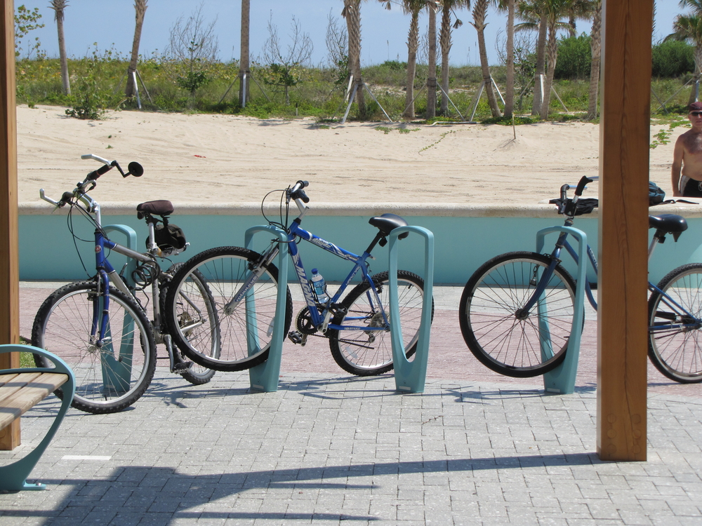 City of Riviera Beach Municipal Beach Park Ocean Mall Bike Parking Custom RAL Powder coat.jpg