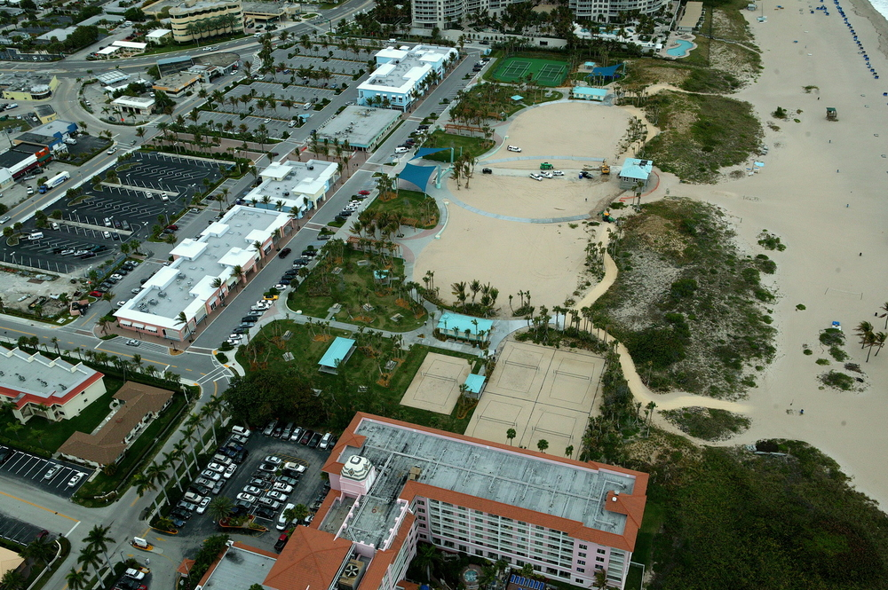 City of Riviera Beach Municipal Beach Park Ocean Mall Final Volley Ball Courts.JPG
