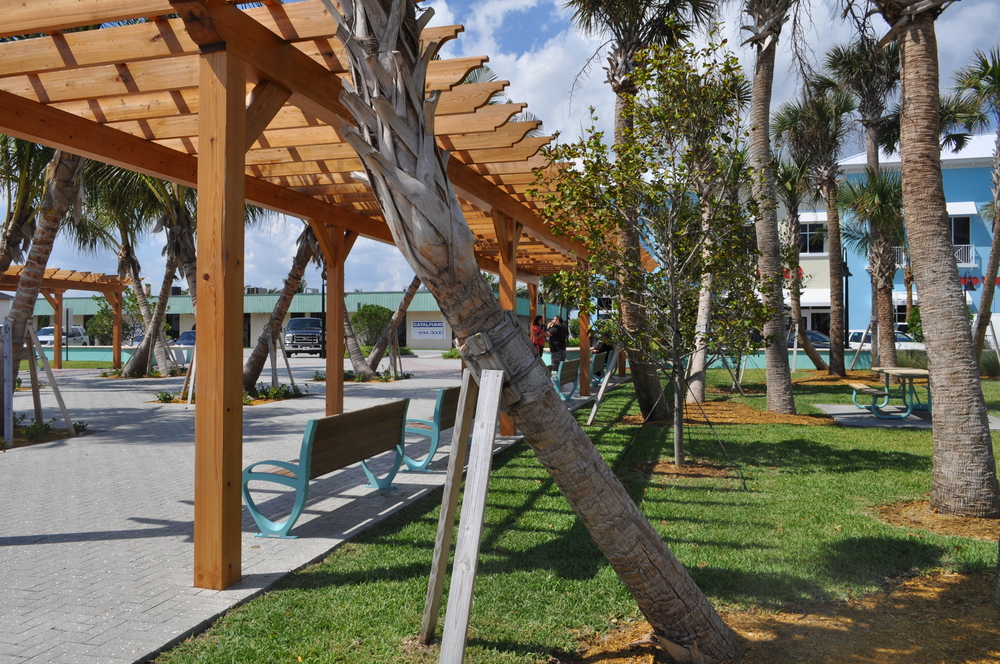 City of Riviera Beach Municipal Beach Park Ocean Mall Trellis with Seating.jpg