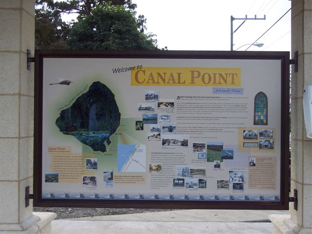 Lake Okeechobbe Senic Trail Econimic Development Canal Point Sign.JPG