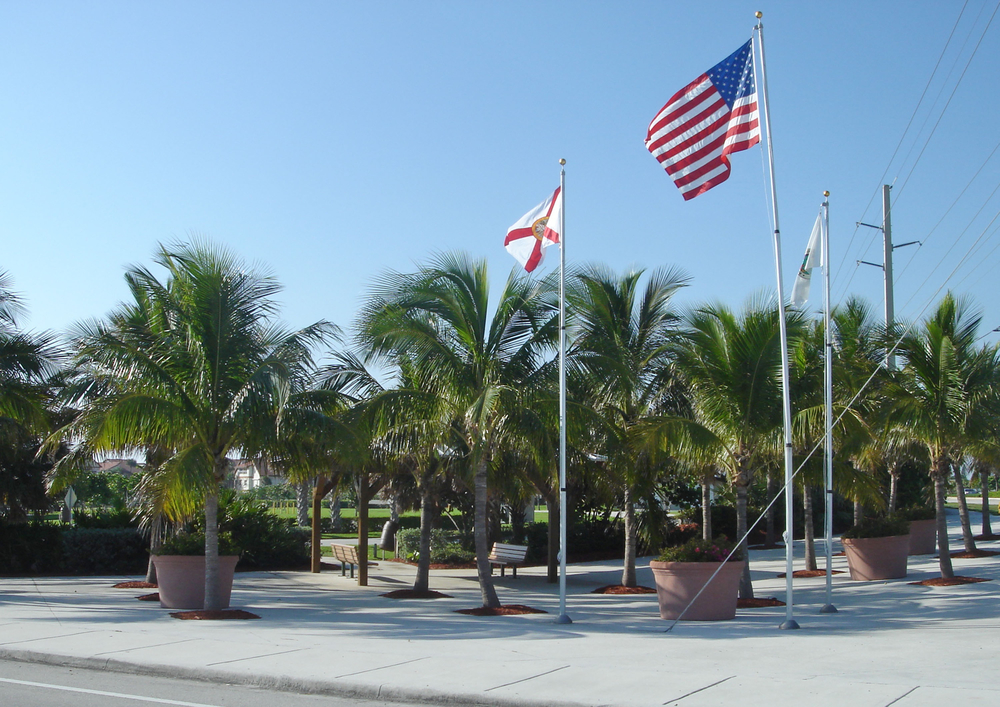 Ocean Cay Park Palm Beach County Entry Plaza with Coconuts and large planted pots.jpg