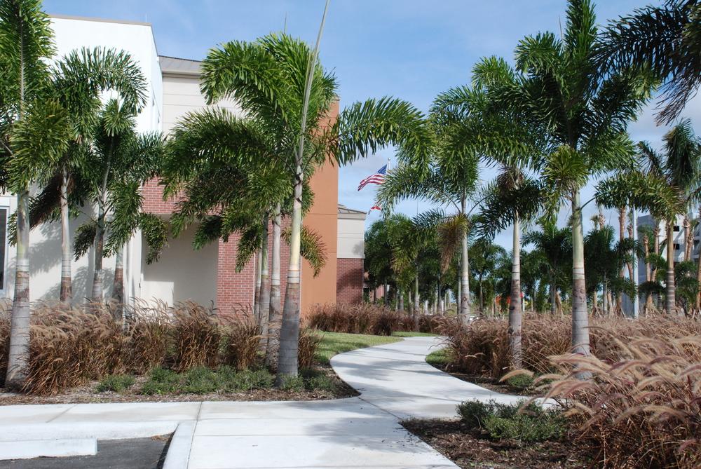 Palm Beach County Fire Rescue Training Facility Pedestrian Walk.JPG