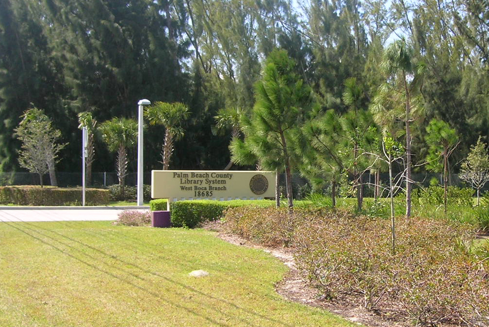 Palm Beach County West Boca Library Signage.jpg