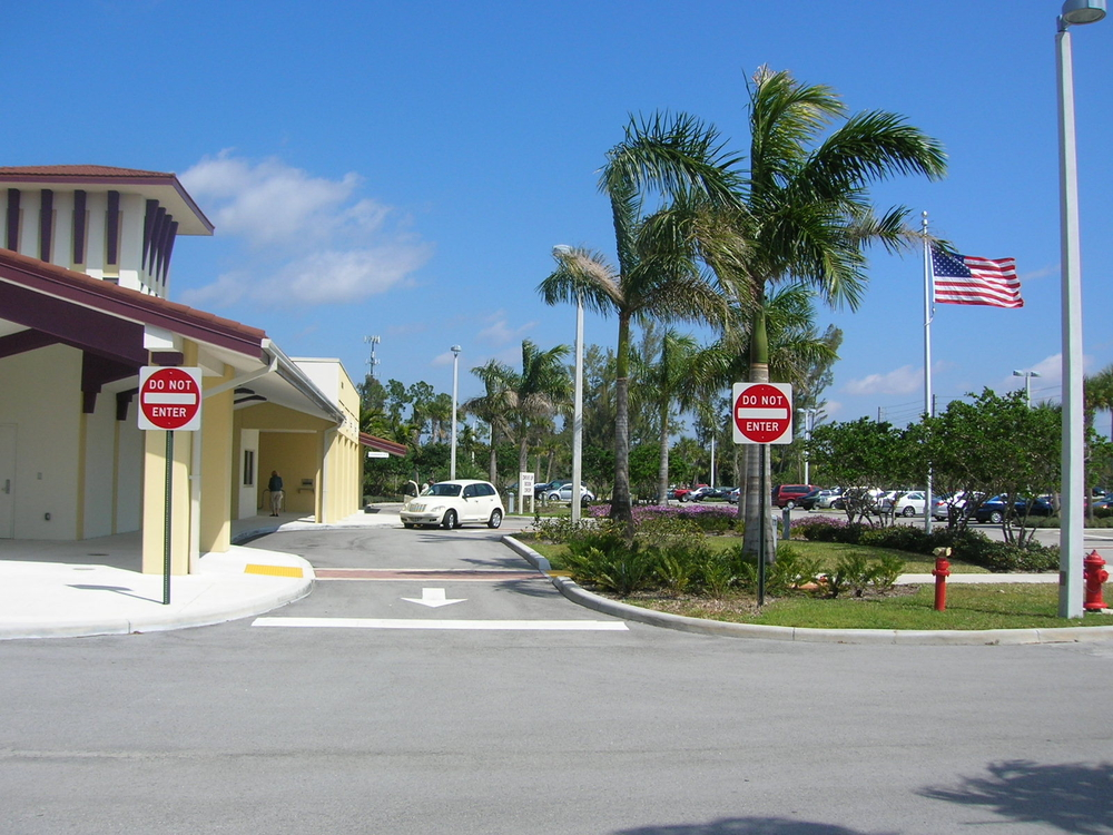 Palm Beach County West Boca Library Drop Off Landscping.JPG