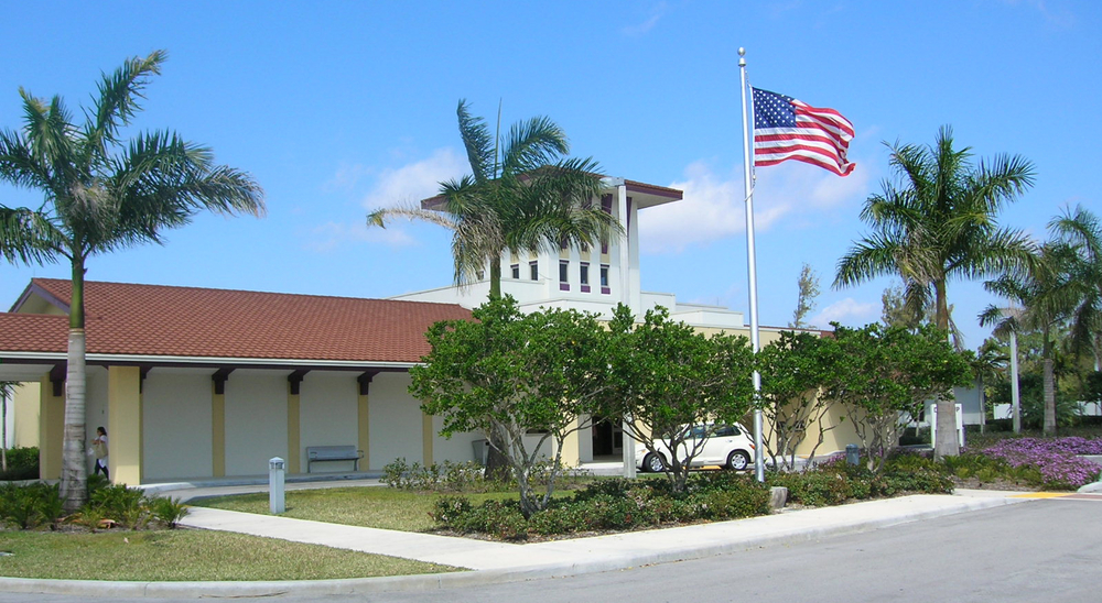 Palm Beach County West Boca Library Flag Pole.jpg