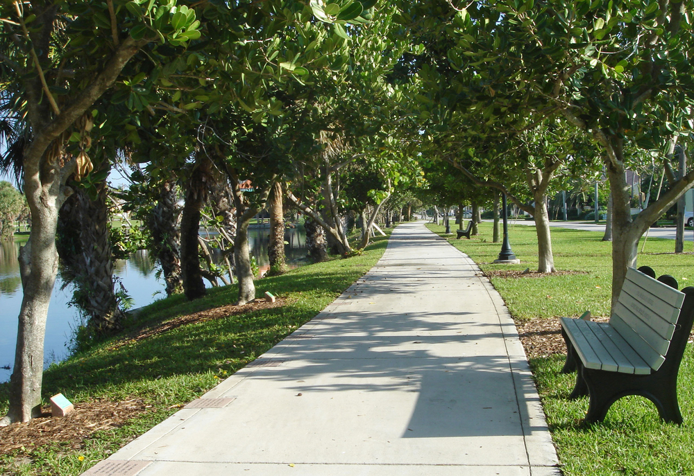 Pelican Lake Park Juno Beach Florida Path and Bench.jpg