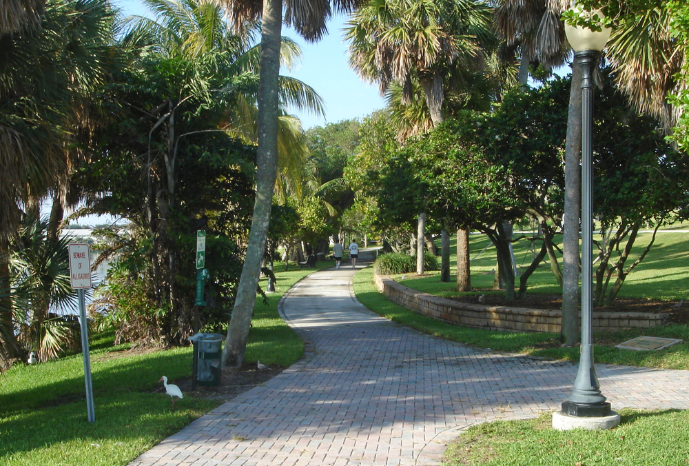 Pelican Lake Park Juno Beach Florida Paver Walking Path.jpg