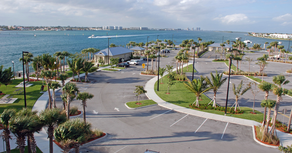 Phil Foster Park Palm Beach County Florida Aerial View Curvilinear Parking.JPG