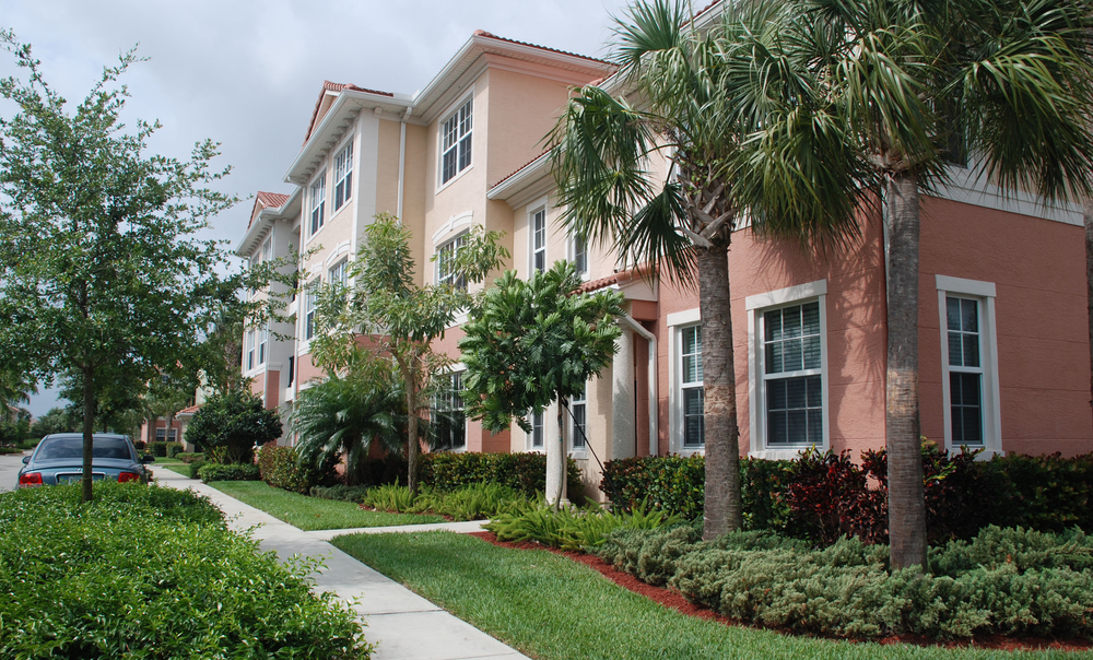 The Gables Floresta Jupiter Florida Front Entry of Units Landscaping.jpg