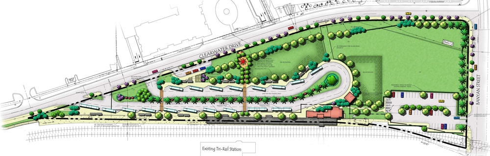 West Palm Beach Intermodal Transit Facility Landscape Plan.jpg