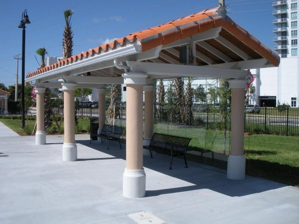 West Palm Beach Intermodal Transfer Facility Bus Shelter and Seating.jpg