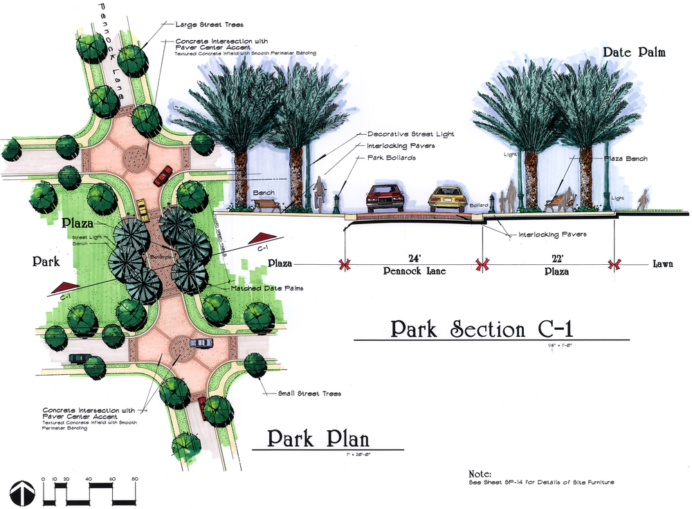 Paseos Residential Community Jupiter Florida Park Plan and Cross Section.jpg