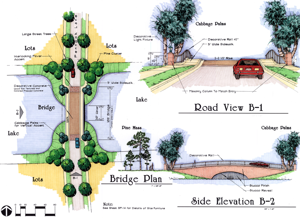 Paseos Residential Community Jupiter Florida Bridge Plan and Elevation.jpg